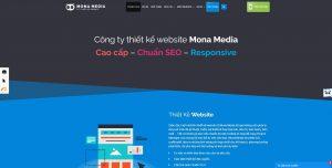 thiết kế website mona media