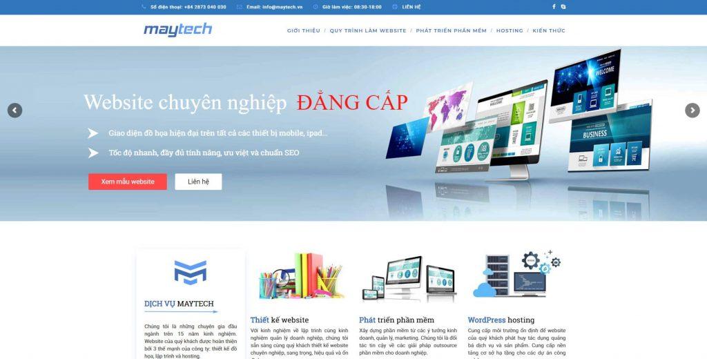 Maytech thiết kế website uy tín tại tphcm