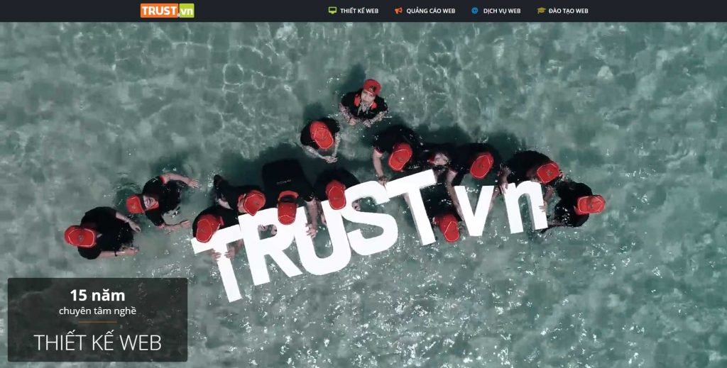 công ty thiết kế website trust