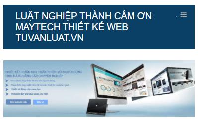 Khách hàng cám ơn công ty Maytech đã thiết kế website